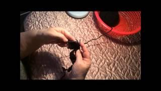Обучающее видео, как связать бороду для шапки.