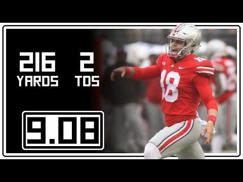 Tate Martell Full Highlights Ohio State vs Rutgers  90818  216 Yards, 2 TDs