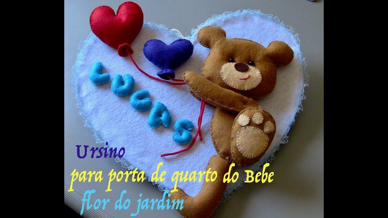Decoraç u00e3o Personalizada Ursinho para quarto de Beb u00ea Baby Room Teddy Bear YouTube -> Decoração De Quarto De Bebê Ovelhinhas