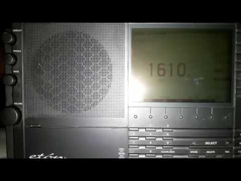 Radio Caribbean Beacon 1610 khz con Eton E1 desde Mendoza (ARG)