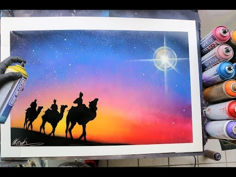 The star of Bethlehem - SPRAY PAINT ART - by Skech