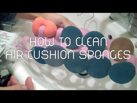 How to Clean Air Cushion Sponges | 에어쿠션 퍼프 세척방법