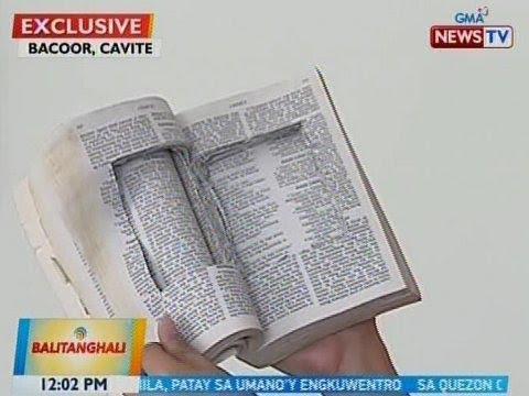 BT: Bibliya, nabistong pinagtataguan ng shabu sa Cavite