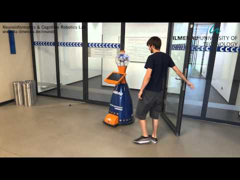 Interactive Mobile Robot Guiding a Visitor in a University Building