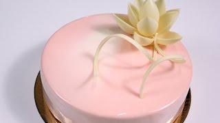 Муссовый торт для начинающих, рецепт, глазурь, велюр. / Basic mousse cake recipe, glaze, velvet