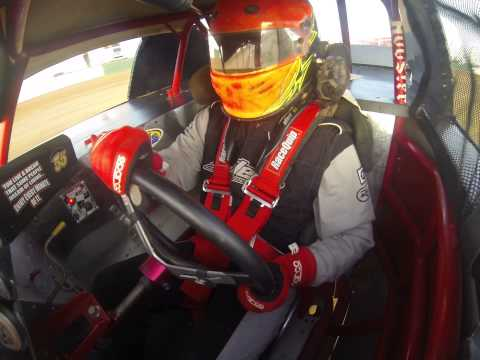 Outlaw Motor Speedway Speedway practice 3/16/15-driver view