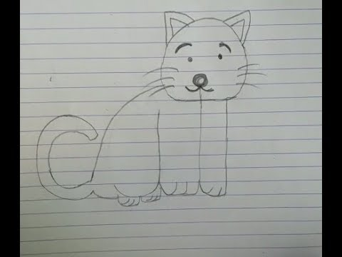How to turn word cat into a cat cartoon..  Very easy