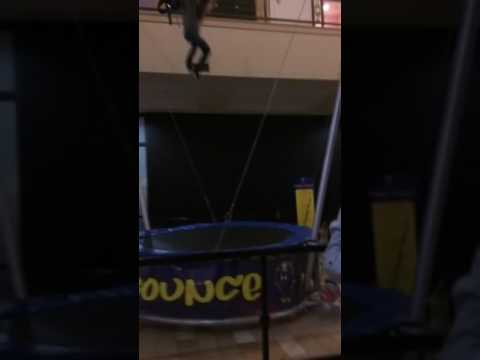 trampolines for teenagers teen jumps from second floor to trampoline mall of georgia youtube