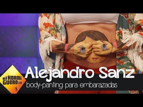 Pilar Rubio muestra ejemplos de body-painting en embarazadas - El Hormiguero 3.0