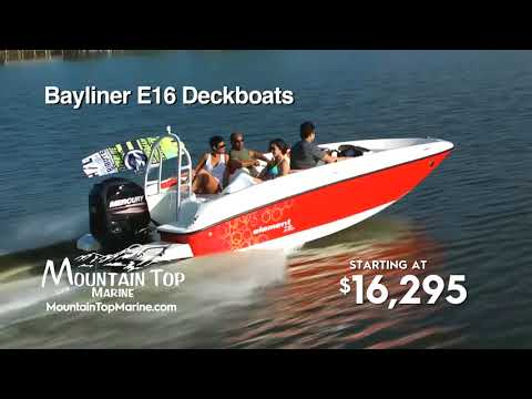 Mountain Top Marine Bayliner On the lot boat show