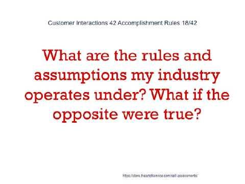 Customer Interactions 42 Accomplishment Rules