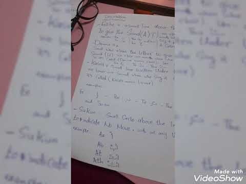 The first class for teaching arabic for non arab, the vowels