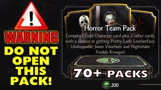 MKX Mobile 1.21. HUGE Horror Team Pack Opening. The Most INCREDIBLE Pack Opening I Ever Had!