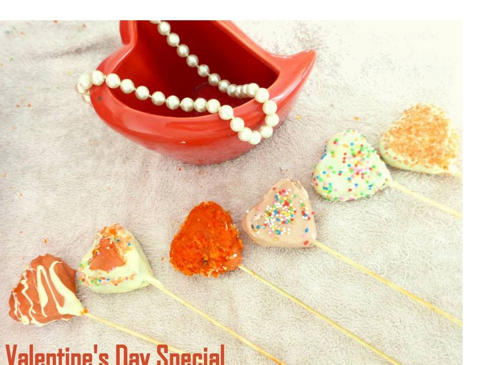 Heart In Cake Pops Valentine S Day Special Easy Kids Party Snack
