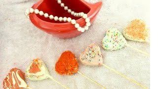 Heart In Cake Pops - Valentine's Day Special |easy Kids Party Snack