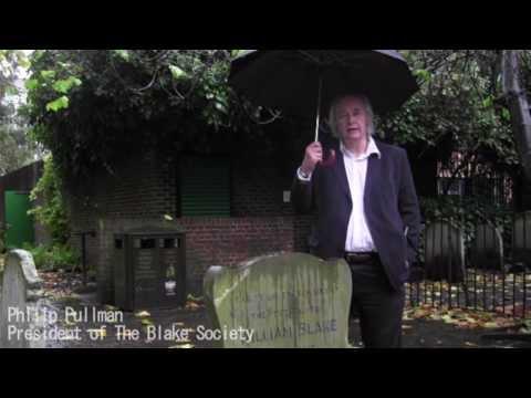 Philip Pullman at William Blake's Grave