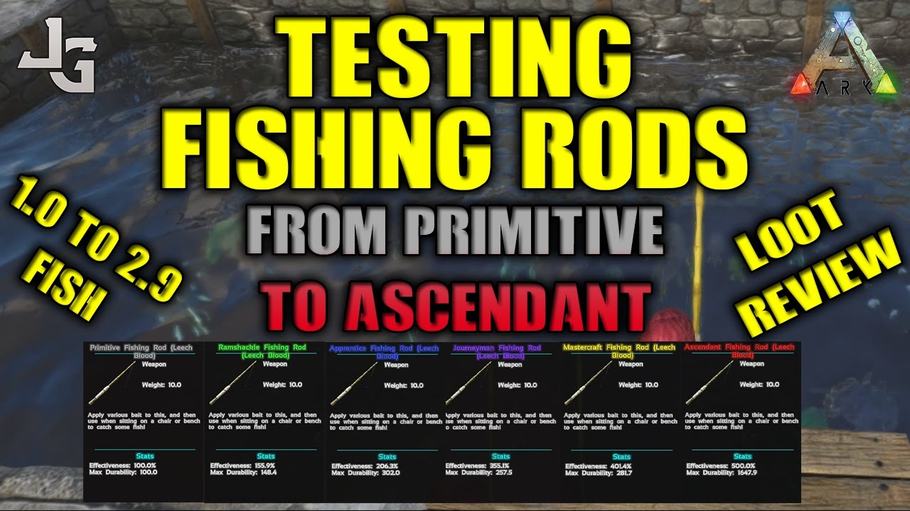 Ark grand fishing rod test from primivite to ascendant for Fishing pole ark