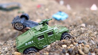 Invasion of US Military Base Camp Tank Helicopter Jet Planes | Toy Unboxing and Play Video