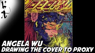 Angela Wu drawing the cover to her comic Proxy