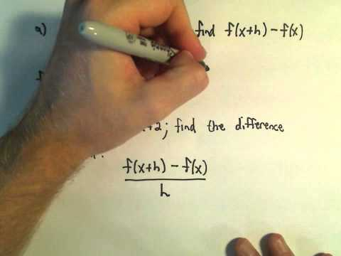 ❖ The Difference Quotient - Example 1 ❖