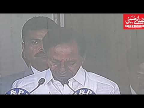 Cm kcr swearing ceremony at Raj Bhavan with dpty Cm Md Mahmood Ali