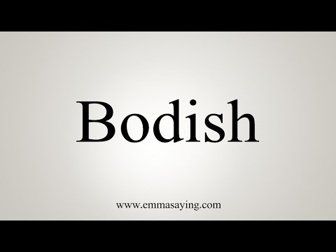 how-to-say-bodish
