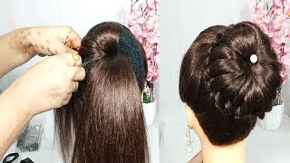 easy juda bun hairstyle for wedding   cute hairstyle   juda hairstyle   new hairstyle   Hairstyles
