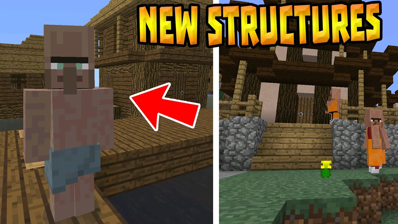 NEW VILLAGES & STRUCTURES!!! - MCPE 0 15 4 Life Mod - Minecraft PE (Pocket  Edition)