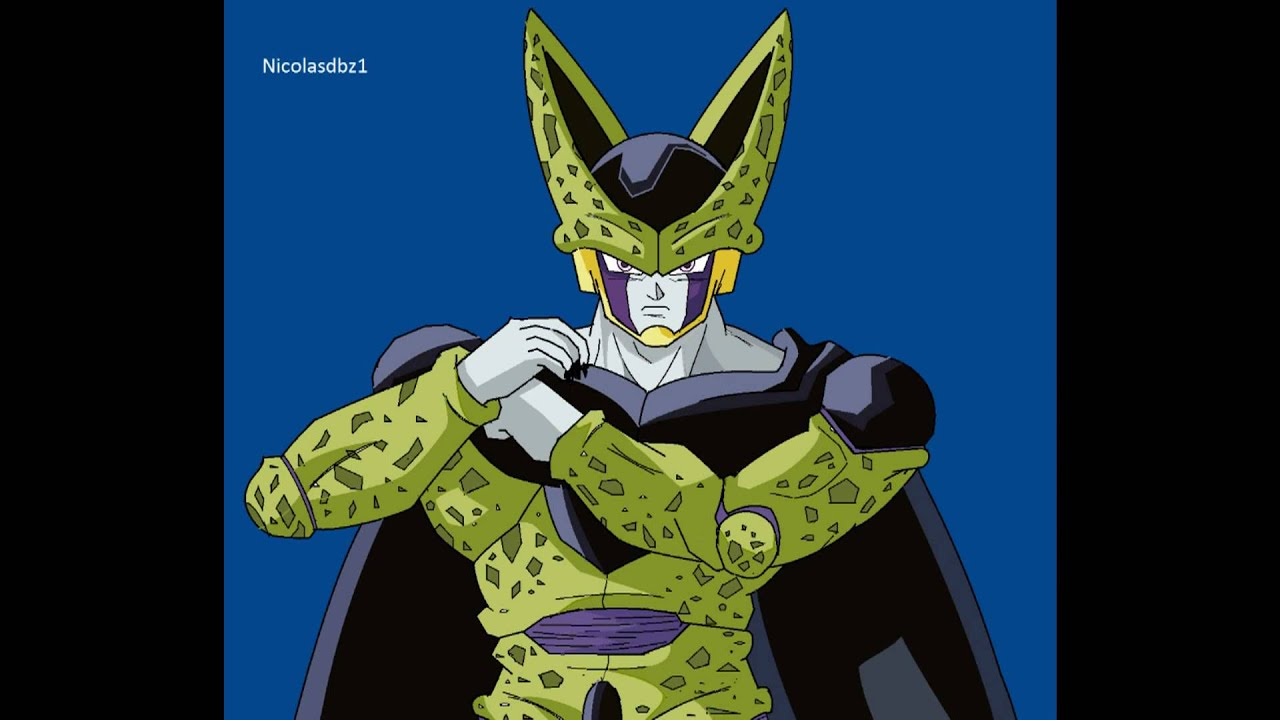 DBZ Cell perfect form - paint drawing - YouTube