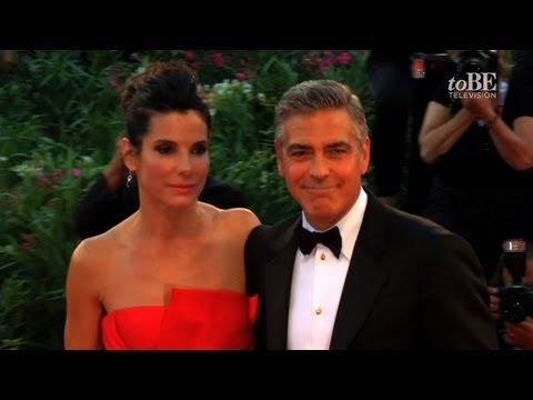 The 70th Venice Film Festival - George Clooney and Sandra Bullock on the red carpet for Gravity