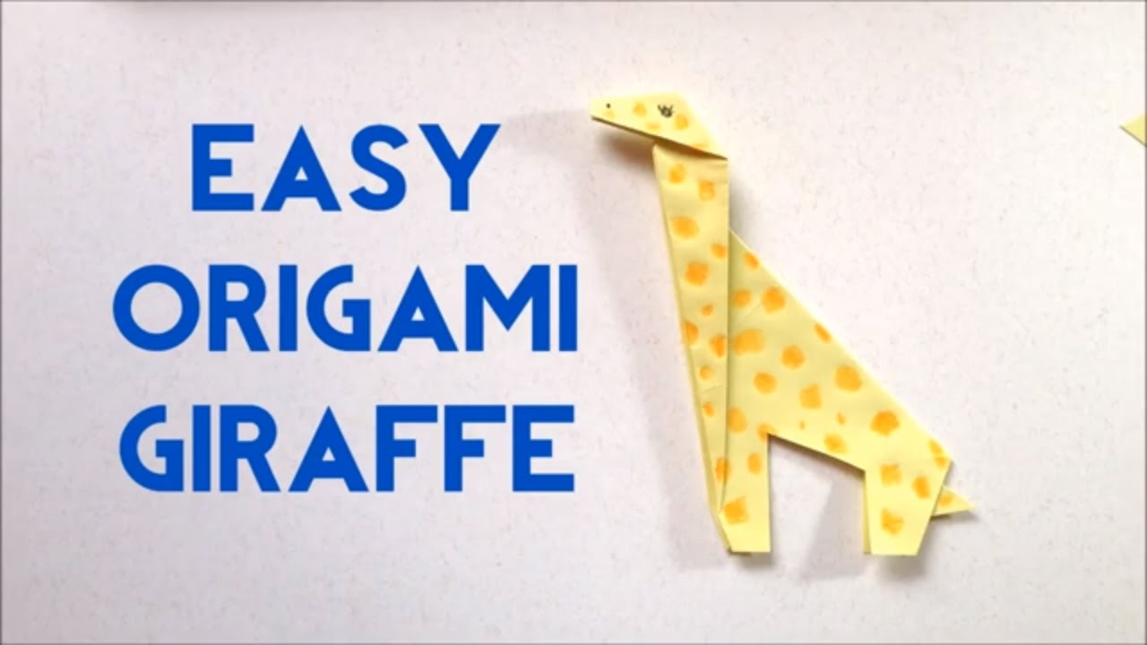 How to make origami giraffe easy tutorial for beginners easy how to make origami giraffe easy tutorial for beginners easy origami giraffe origami animal jeuxipadfo Gallery