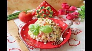 Салат с картошкой и ветчиной Простые рецепты в домашних условиях