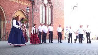 00050 Vokālo ansambļu ielu koncerts Doma laukumā 7.07.2018