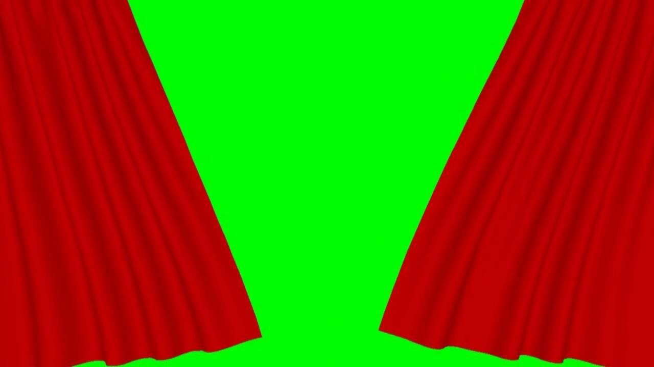Intro sans texte a telecharger gratuite HD - rideau rouge fond vert theatre