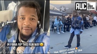 Rowdy Rebel Modeling On A Navy Ship For New York Fashion Week