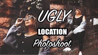 UGLY LOCATION PHOTOSHOOT with EDITING!!