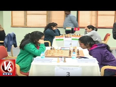 AICF International Women Grand-masters Chess Tournament Begins At NITHM University | Hyderabad | V6