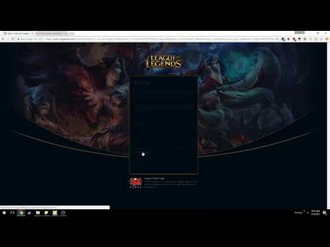 League Of Legends Forgot Username / Password Issues