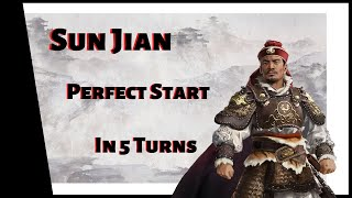 Total War: Three Kingdoms - Mandate of Heaven - Sun Jian - 5 Turn PERFECT START!