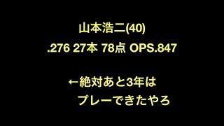 プロ野球 山本浩二(40) .276 27本 78点 OPS.847 ←絶対あと3年はプレーで...