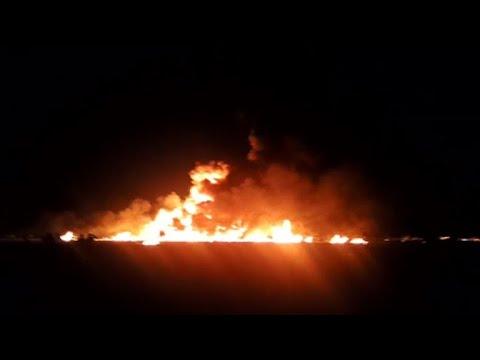 Mexique: près de l'oléoduc en feu, les habitants sous le choc