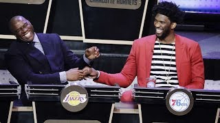 Magic johnson & joel embiid react to the nba draft lottery results