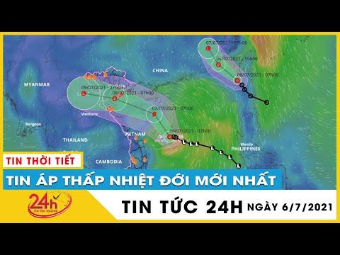 Cập nhật 2 áp thấp nhiệt đới liên tiếp vào Biển Đông, sắp có cơn bão số 3 vào ngày mai 7/7 | TV24h