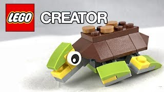 Cute Lego Creator Happy Turtle Review! 2017 Polybag 30476!