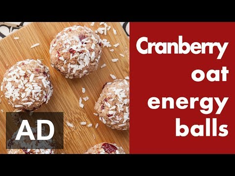 CRANBERRY COCONUT ENERGY BALLS