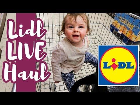 LIDL HAUL LIVE | FAMILIENEINKAUF | ENGLAND | SARAH-JANE 💖