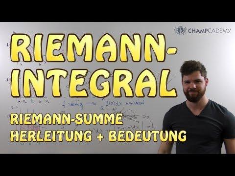 Riemann Integral, Riemann Summe | Herleitung + Bedeutung + Voraussetzung