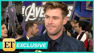 Avengers: Endgame Premiere: Chris Hemsworth FULL INTERVIEW (Exclusive)