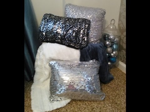 DIY  ( NO SEW PILLOWS) bling on a budget💰💲😘
