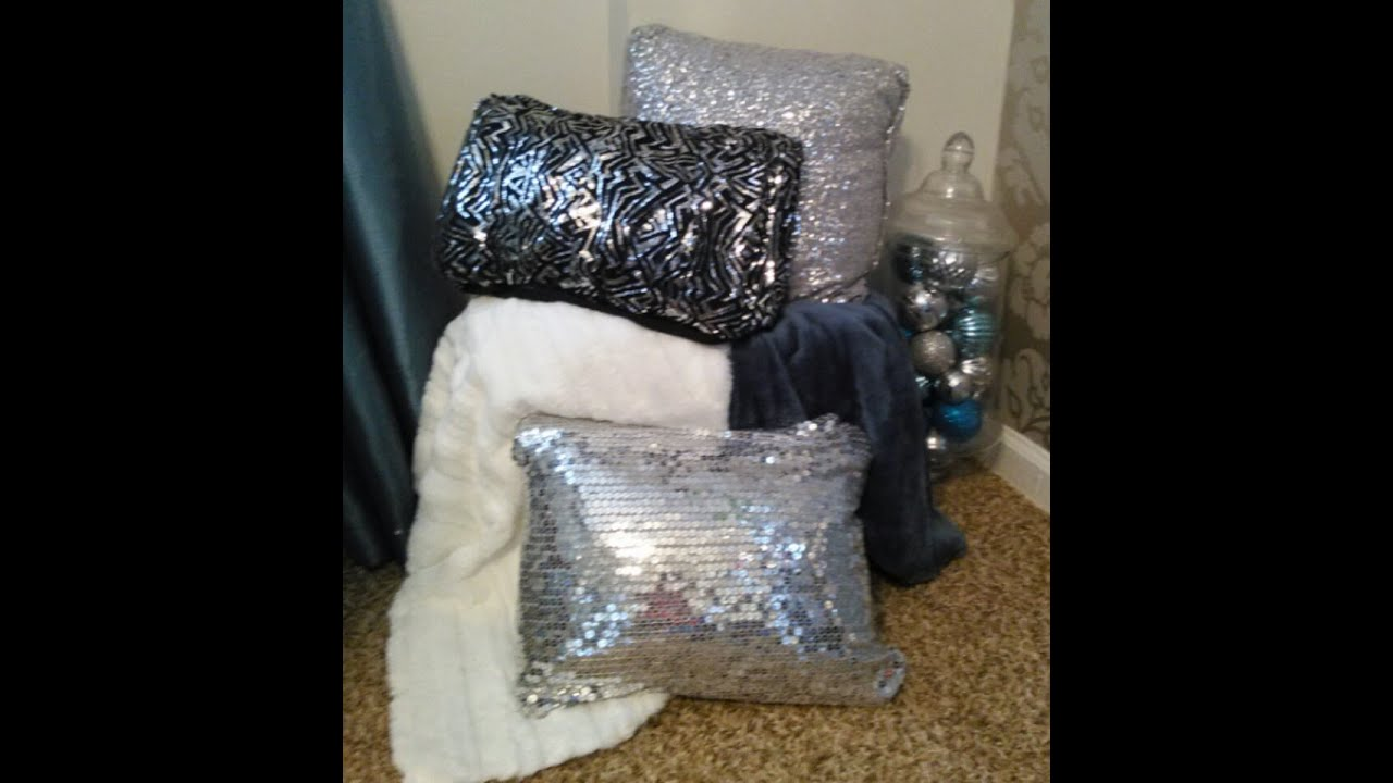 cover velvet of case sparkle pillows silver market velveteen pillow etsy il set throw bling